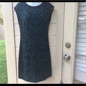 Euc EXI New York green black dress